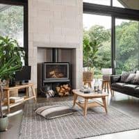 Neutral Striped Cushion   Home Accessories